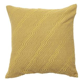 JAPANESE ZIG ZAG CUSHION COVER 45X45 OCHRE