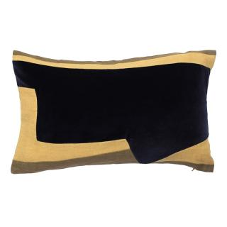 ABSTRACT GEO CUSHION COVER 30X50  INK