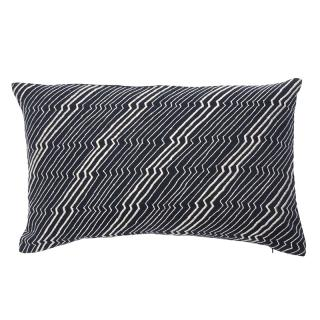 JAPANESE ZIG ZAG CUSHION COVER 30X50 INDIGO