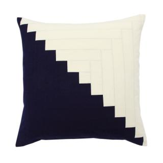 SAWTOOTH QUILTED  CUSHION COVER INDIGO