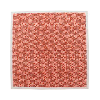 JAPANESE SQUARE BLOCK PRINT NAPKIN RED