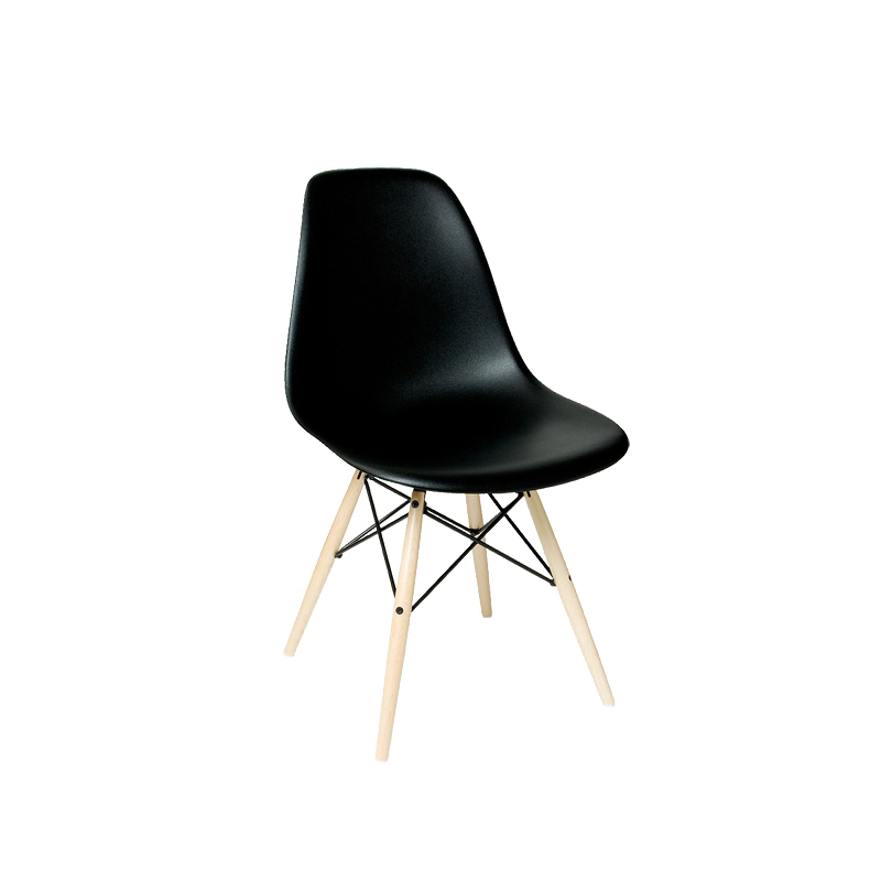 EAMES DSW SIDE CHAIR BLACK