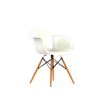 EAMES SHELL CHAIR DAW  WHITE /DAW BK UL ZF