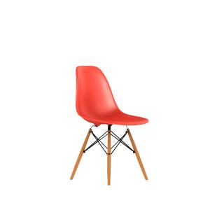 DSW BK UL ZE /DSW SHELL CHAIR RED/MAPLE-BASE