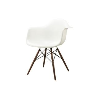 DAW SHELL CHAIR /WALNUT-BASE WHITE