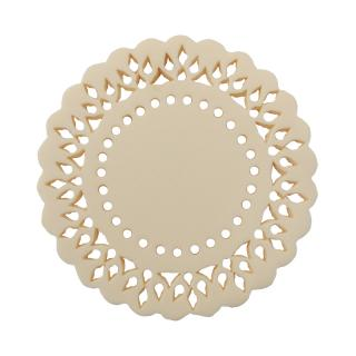 IVORY RESIN PERFORATED LACE COASTER