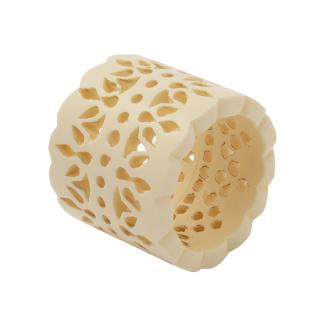 IVORY RESIN PERFORATED LACE NAPKIN RING