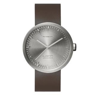 LEFF TUBE WATCH D42 STEEL / BROWN