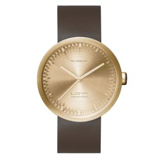 LEFF TUBE WATCH D42 BRASS / BROWN