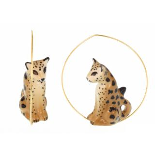 NACH CREOLES LEOPARD EARRINGS(PIERCE)