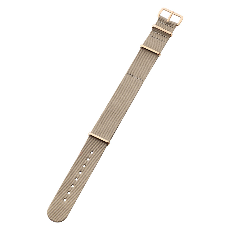 BRISTON NATO STRAP NS18 TAUPE R.GOLD