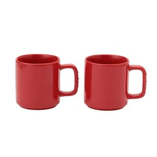 STAUB CERAMIC MUG PAIR CHERRY
