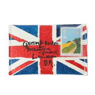 COXCOMB CARD CASE UNION JACK WHITE