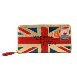 COXCOMB LONG WALLET UNION JACK GOLD