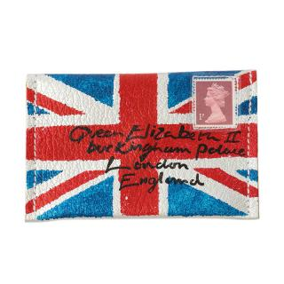 COXCOMB CARD CASE UNION JACK SILVER