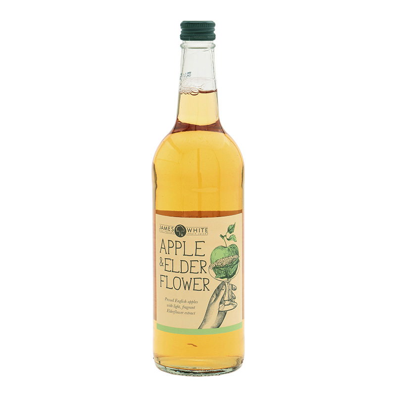 JAMES WHITE CLASIC APPLE & ELDERFLOWER 750ML