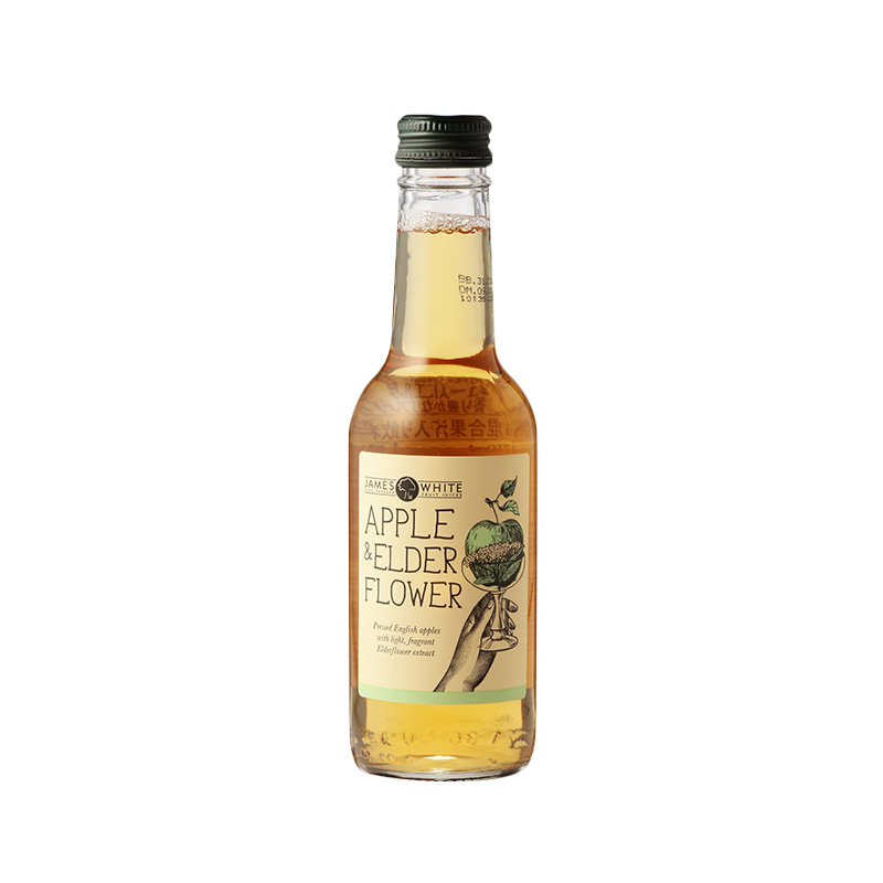 JAMES WHITE CLASIC APPLE & ELDERFLOWER 250ML