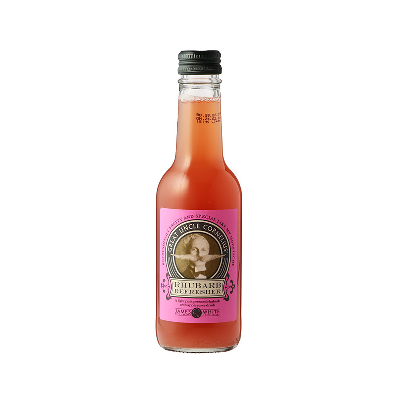 JAMES WHITE GREAT UNCLE CORNELIUS RHUBRB REFRESH 250ML