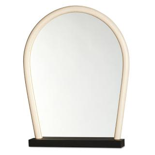 WRONG FOR HAY BENT WOOD MIRROR BLACK BASE NATURAL