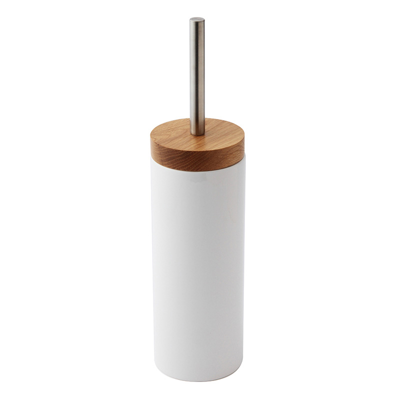OAK WOOD/CERAMIC TOILET BRUSH