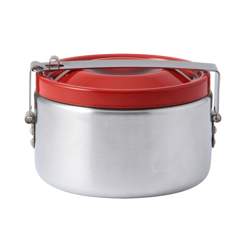 ALUMINIUM FOOD CONTAINER WITH RED LID 120