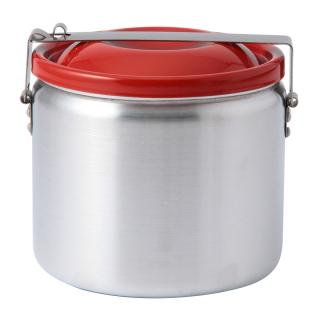 ALUMINIUM FOOD CONTAINER WITH RED LID 140