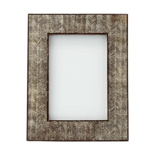 BROWN HERRINGBONE FRAME