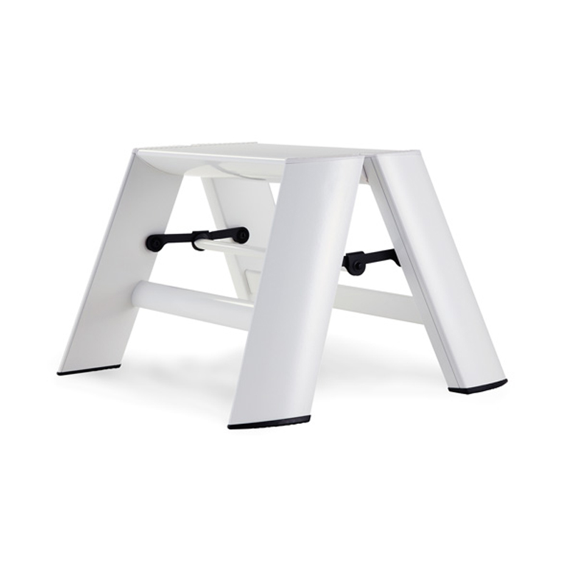 LUCANO 1 STEP STOOL WHITE