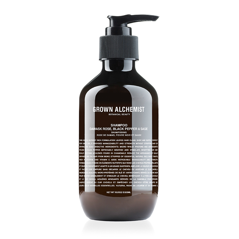 GROWN ALCHEMIST SHAMPOO DAMASK ROSE BLACK PEPPER&SAGE 300ML