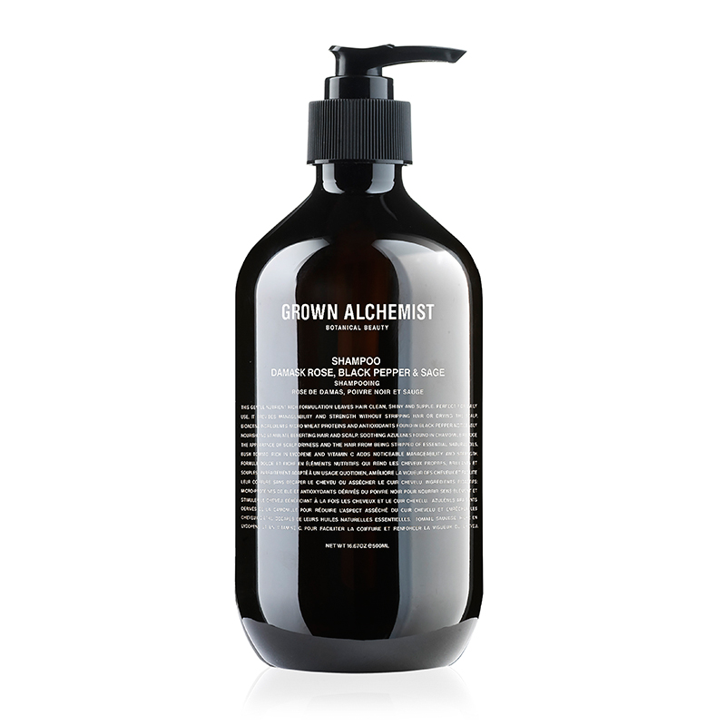 GROWN ALCHEMIST SHAMPOO DAMASK ROSE BLACK PEPPER&SAGE 500ML