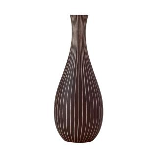 MANGO WOOD VASE BROWN ARC76