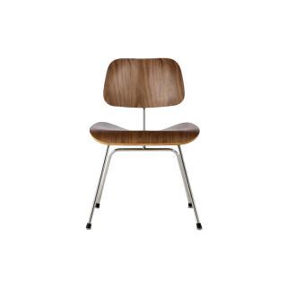 DCM 47 OU /PLYWOOD  DINING CHAIR METALLEG WALNUT