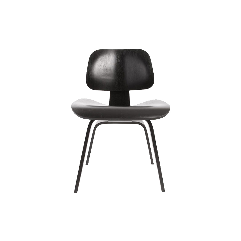 DCW EN/PLYWOOD DINING CHAIR WOODLEG EBONY