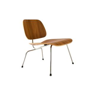 LCM 47 OU/PLYWOOD LOUNGE CHAIR METALLEG WALNUTNUT