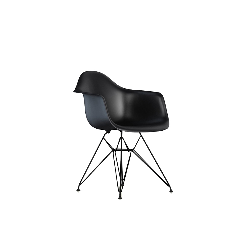 DAR SHELL CHAIR BLACK/BLACK LEG