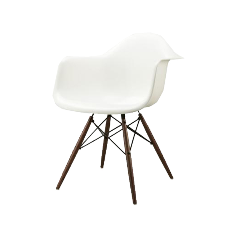 DAW BK OU ZF / DAW SHELL CHAIR WHITE/WALNUT-BASE
