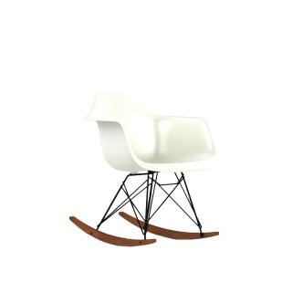 RAR BK OU __ / RAR SHELL CHAIR WHITE/BLACK LEG WALNUT-BS