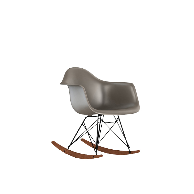 RAR BK OU __ / RAR SHELL CHAIR SPARROW/BLACK LEG WALNUT-BS
