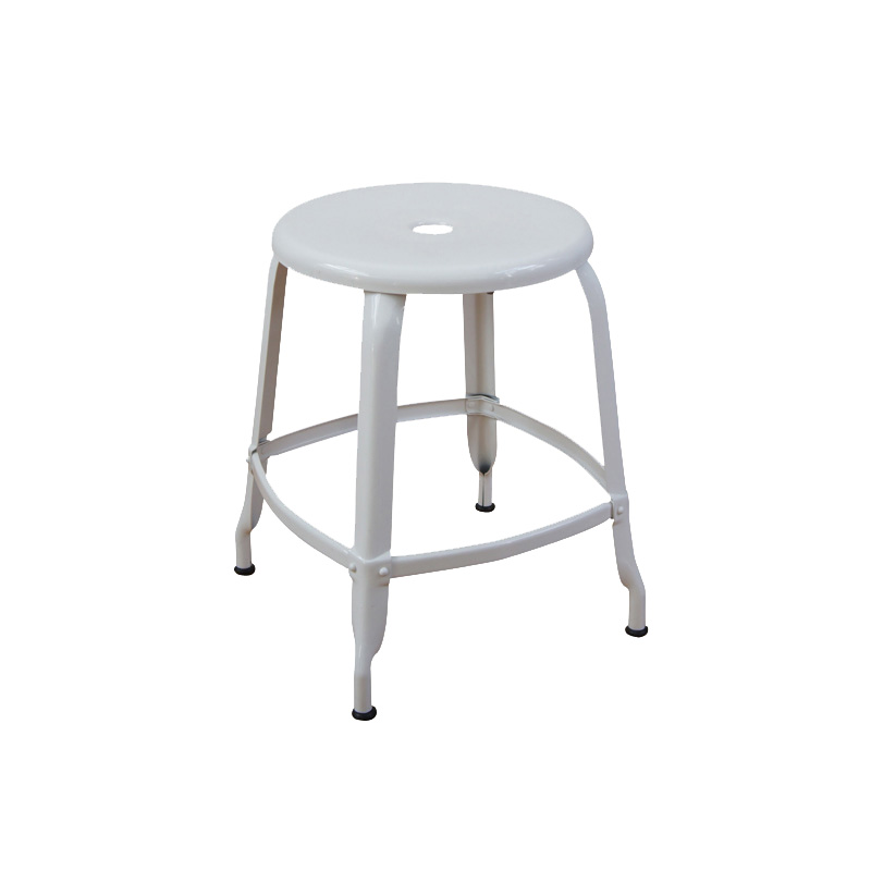 NICOLLE STOOL 45 WHITE