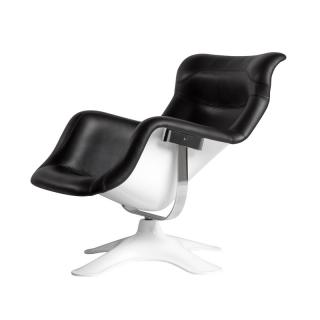 KARUSELLI LOUNGE CHAIR BLACK LEATHER