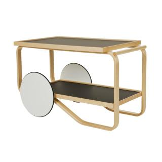 TEA TROLLEY BLACK LAMINATE