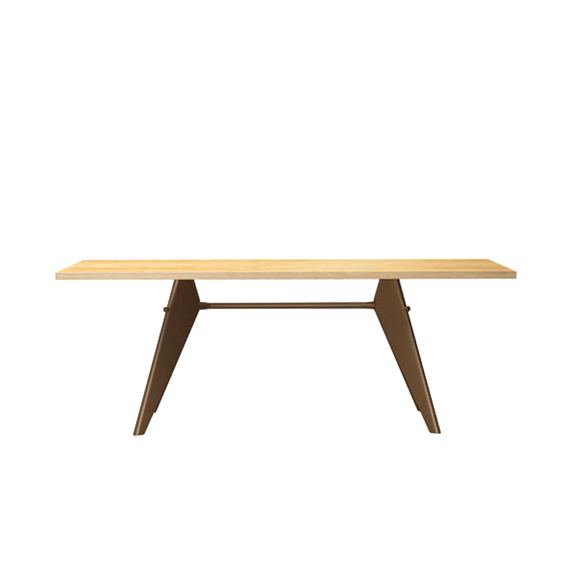 EM TABLE L2000 NATURAL SOLID OAK