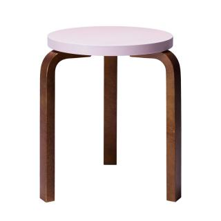 ARTEK STOOL 60 LIGHT PINK/WALNUT