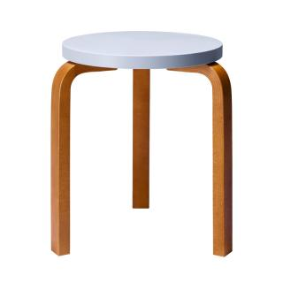 ARTEK STOOL 60 PALE BLUE/HONEY