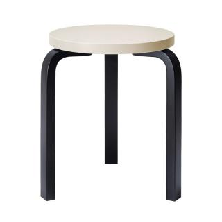 ARTEK STOOL 60 CREAM/BLACK