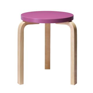 ARTEK STOOL 60 PURPLE/BIRCH