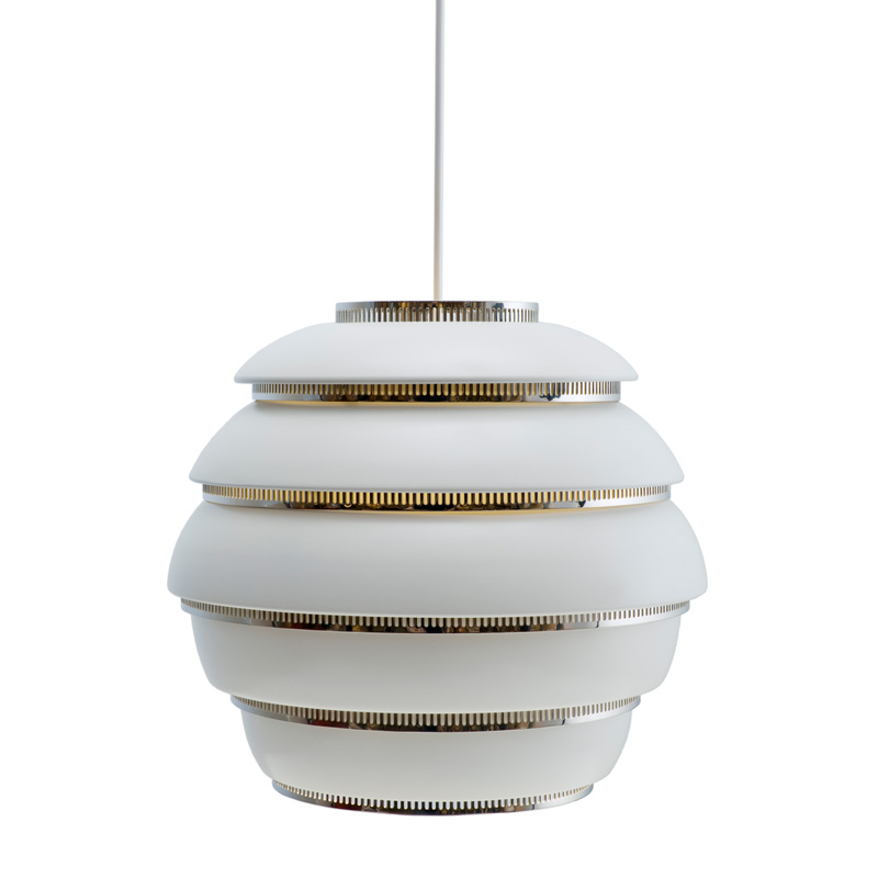 A331 PENDANT LAMP BEEHIVE WHITE/CHROME