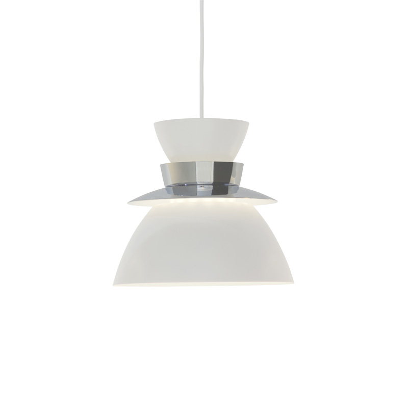 U336 ARTEK PENDANT LAMP WHITE/CHROME