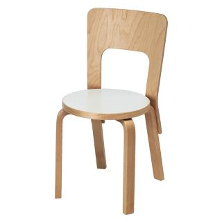 ARTEK 66 CHAIR WHITE LAMINATE