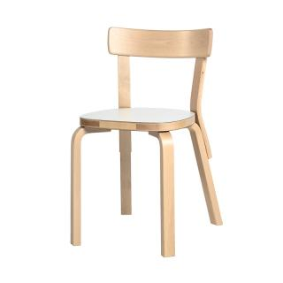 ARTEK 69 CHAIR WHITE LAMINATE